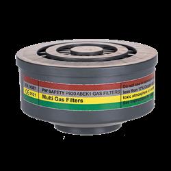 Filtr gazowy typu ABEK1 wyposażony w specjalny gwint