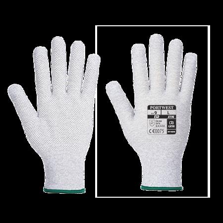 Antystatyczna rękawica z mikronakropieniami