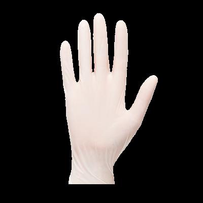 Rękawice jednorazowe lateksowe pudrowane