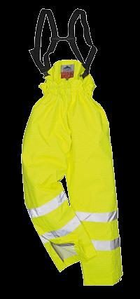 Spodnie Bizflame ostrzegawcze trudnopalne antyelektrostatyczne OCIEPLANE
